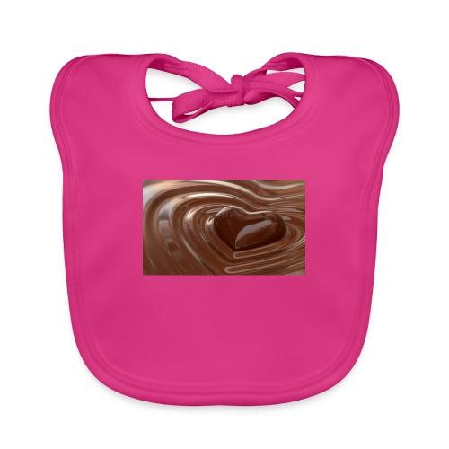 Choklad T-shirt - Ekologisk babyhaklapp