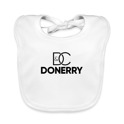 DONERRY Black Logo on White - Organic Baby Bibs