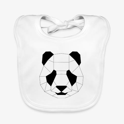 Panda schwarz - Baby Bio-Lätzchen