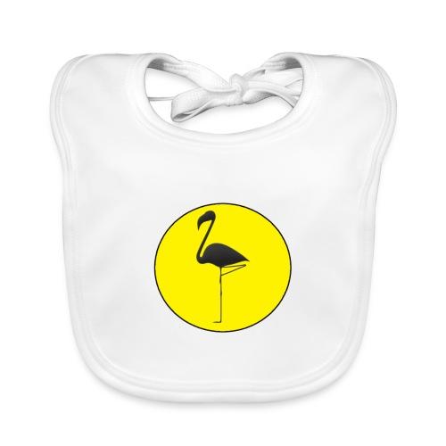 Silhouette Fenicottero - Bavaglino ecologico per neonato