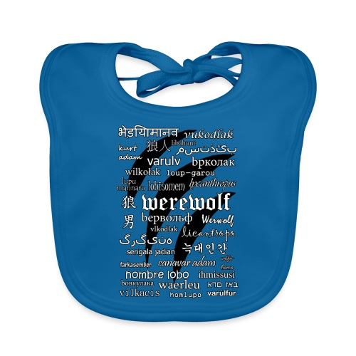 Werewolf in 33 Languages.png - Organic Baby Bibs