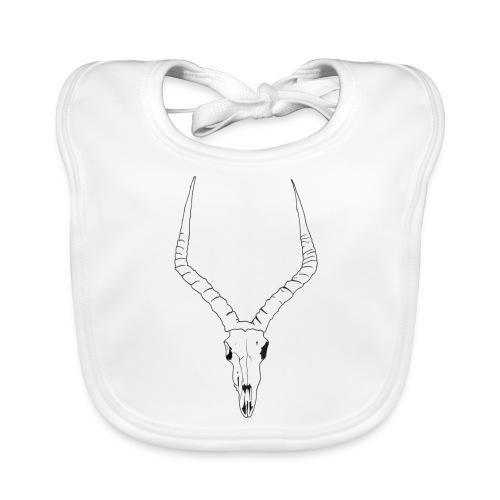 Antelope ANIMAL skull - Baby Organic Bib