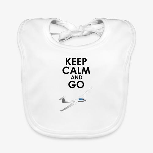 Keep Calm and Go Gliding - Bavoir bio Bébé