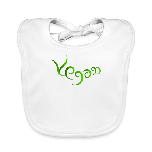 Vegaani käsinkirjoitettu design - Vauvan luomuruokalappu