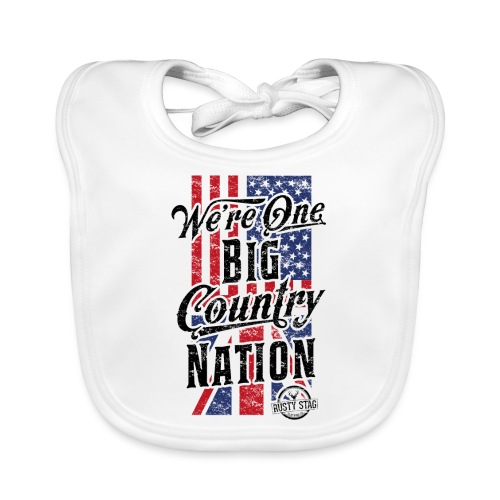 Country Nation Ladies Scoop Tee - Baby Organic Bib