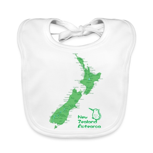 New Zealand's Map - Baby Organic Bib