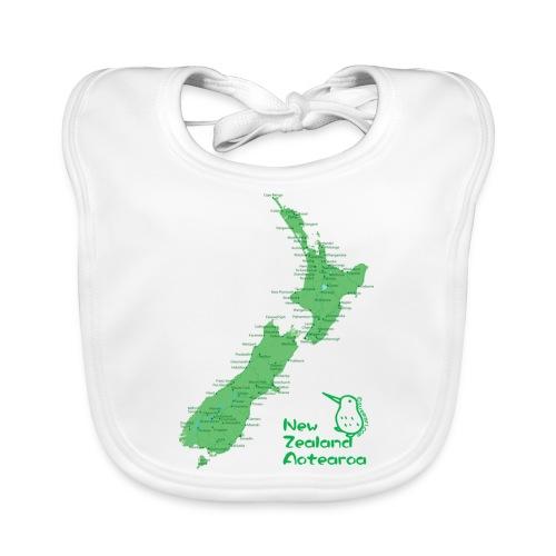 New Zealand's Map - Organic Baby Bibs