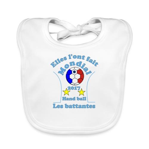 t shirt handball mondial 2017 battantes bleu - Bavoir bio Bébé