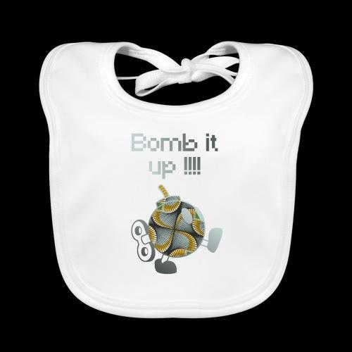 Bomb It Up : Grey Power !!! - Bavoir bio Bébé