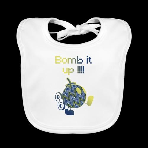 Bomb It Up : Blue Power !!! - Bavoir bio Bébé