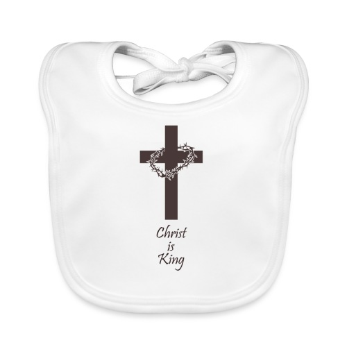 Jesus starb am Kreuz für dich I Christen Geschenk - Baby Bio-Lätzchen