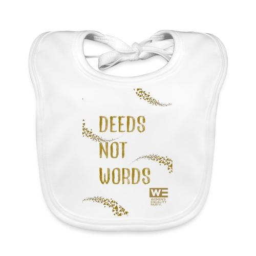 Deeds Not Words Tote Bag - Baby Organic Bib