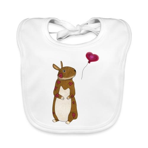 Valentine bunny - Baby Organic Bib