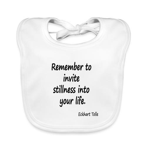 Invite Stillness - Baby Organic Bib