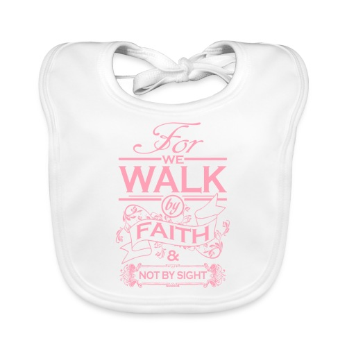 walk pink - Baby Organic Bib