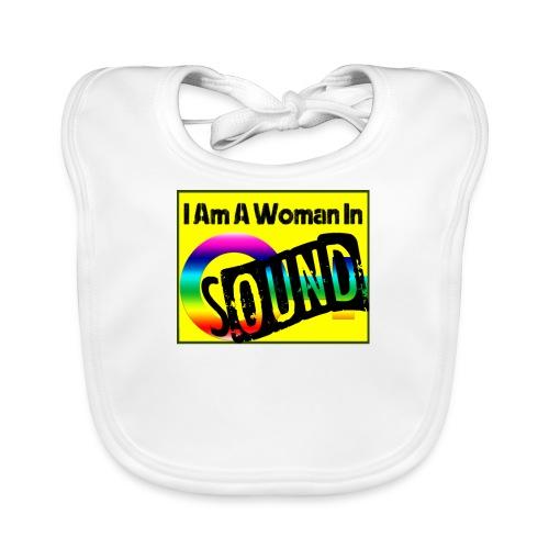 I am a woman in sound - rainbow - Baby Organic Bib