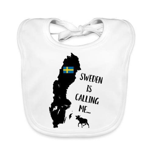 Schweden Flagge Karte Elch Spruch - Baby Bio-Lätzchen