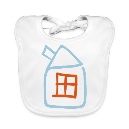 House Outline Pixellamb - Baby Bio-Lätzchen