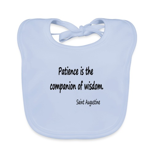 Peace and Wisdom - Baby Organic Bib