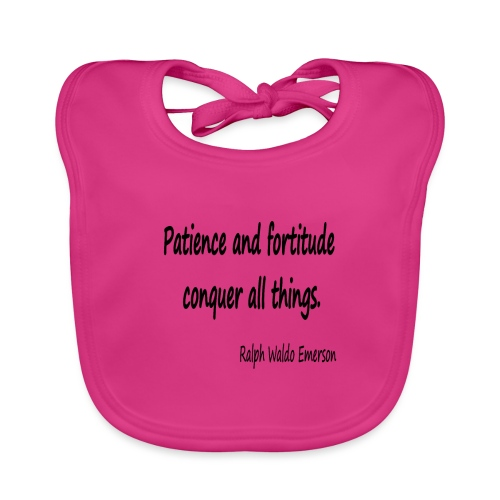 Peace and Patience - Baby Organic Bib