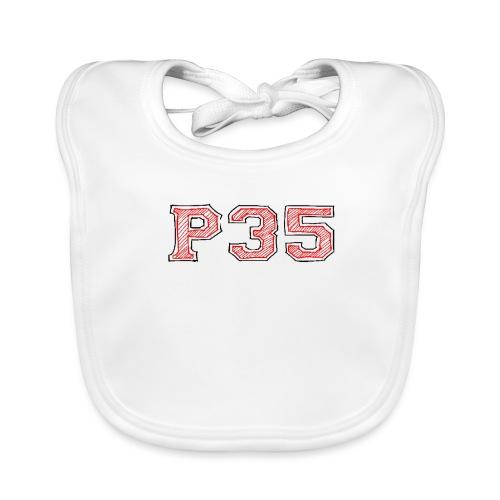 P35 Sports Logo - Baby Bio-Lätzchen