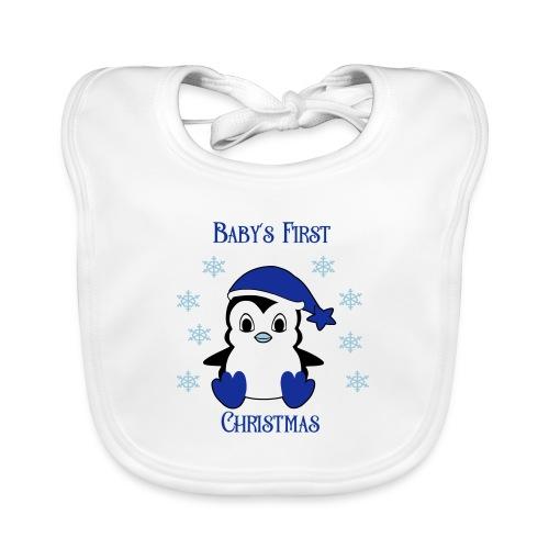Penguin boy first christmas - Bio-slabbetje voor baby's