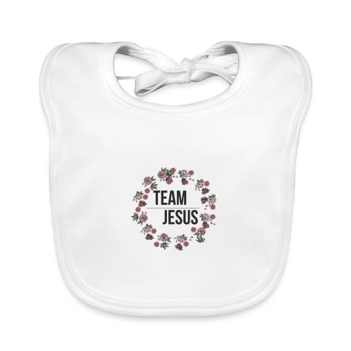 Team Jesus - Christliches Shirt Design Rosenblüten - Baby Bio-Lätzchen