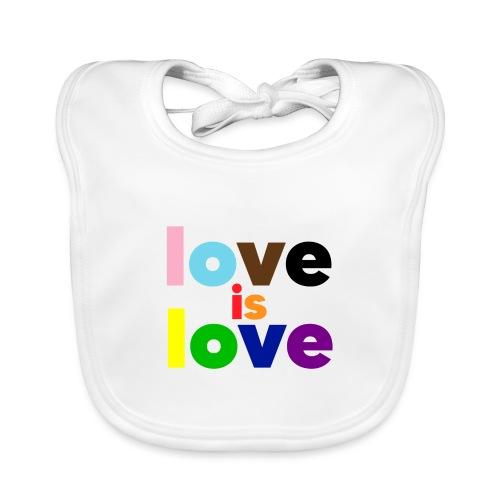 love is love - Babero de algodón orgánico para bebés