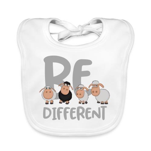 Be different Schafe: Einzigartiges schwarzes Schaf - Baby Bio-Lätzchen