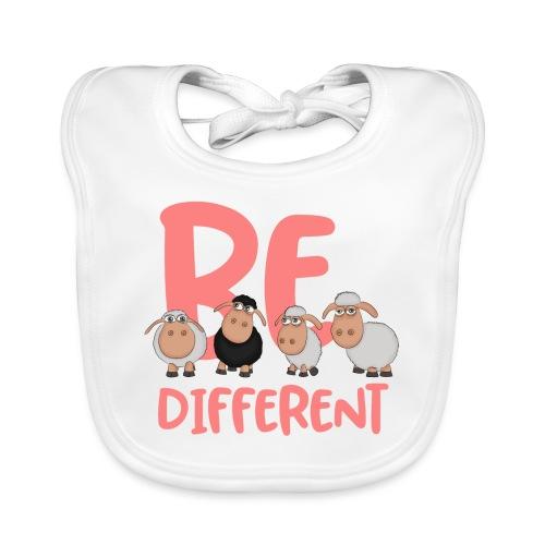 Be different pink sheep - Unique sheep - Baby Organic Bib