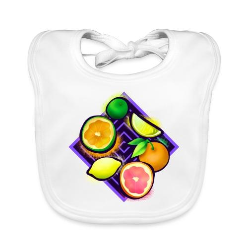 Citrus Pop Art - Baby Bio-Lätzchen