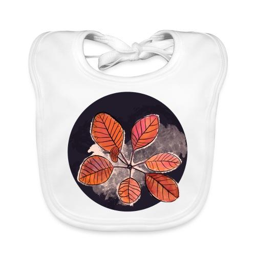 Herbstblätter Kreis - Baby Bio-Lätzchen