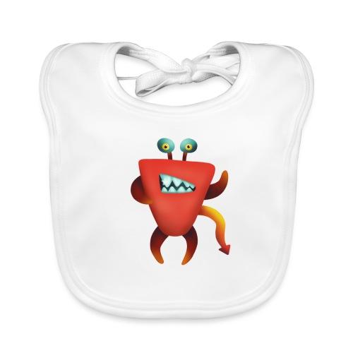 Teufelskrabben Monster - Baby Bio-Lätzchen