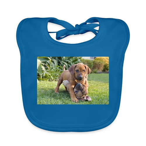adorable puppies - Organic Baby Bibs