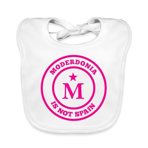 Moderdonia is not Spain rosa - Babero de algodón orgánico para bebés