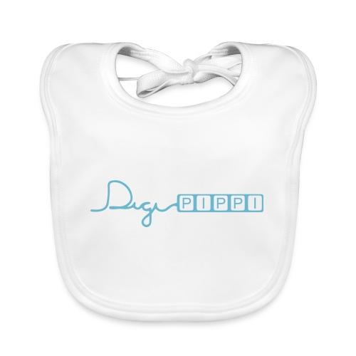 DP Logo Blue - Hagesmække af økologisk bomuld