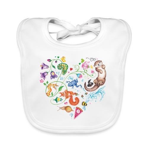 Heart by Maria Tiqwah - Organic Baby Bibs