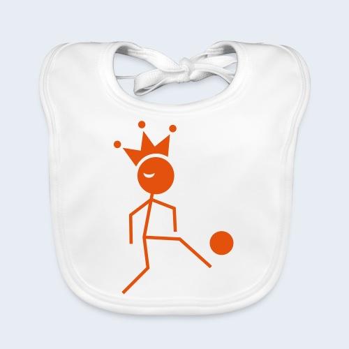 Voetbalkoning - Bio-slabbetje voor baby's