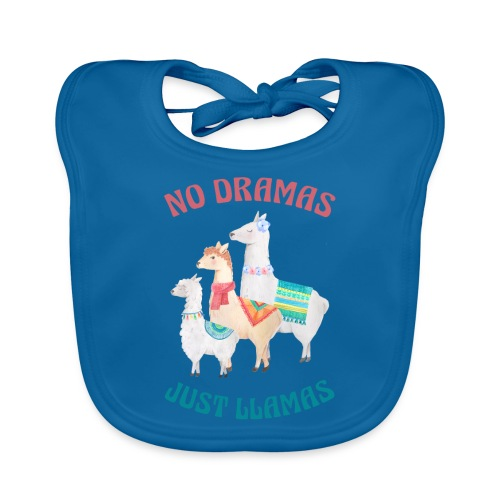 No Dramas Just Llamas - Organic Baby Bibs