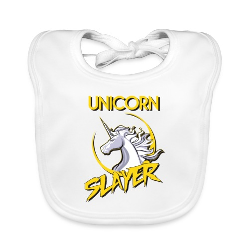 unicorn slayer - Baby Organic Bib