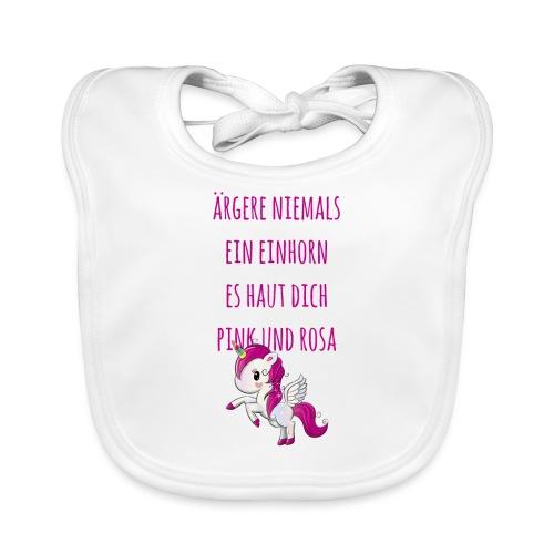 Einhorn Unicorn Pink Rosa Spruch Shirt Geschenk - Baby Bio-Lätzchen