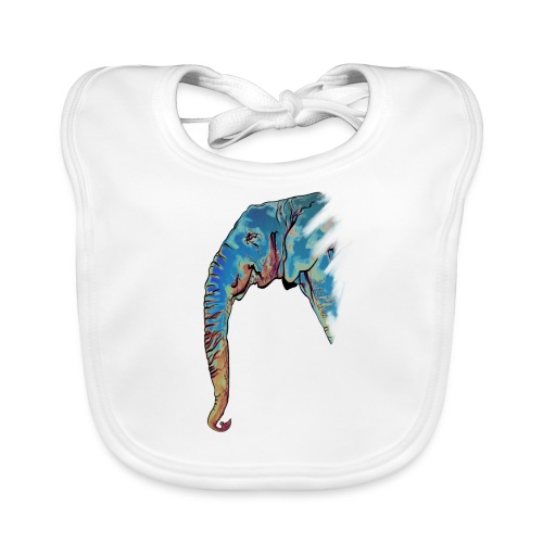 Éléphant Design - Bavoir bio Bébé
