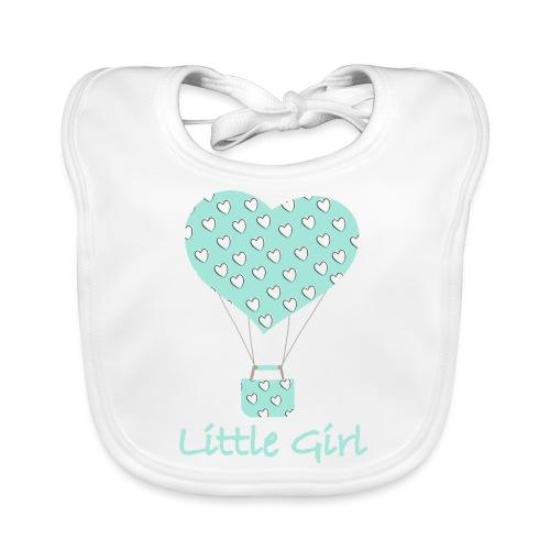 Little Girl in mongolfiera - Bavaglino ecologico per neonato