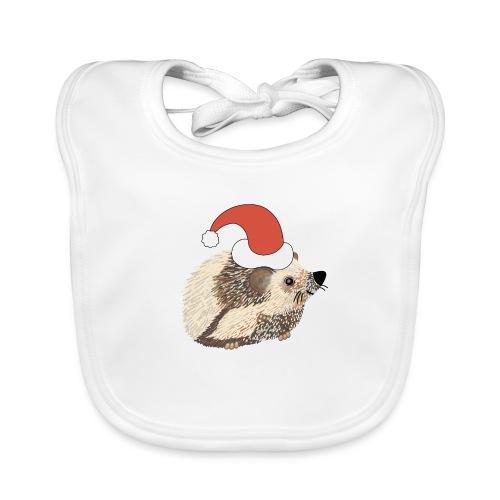 Christmas hedgehog - Baby Organic Bib