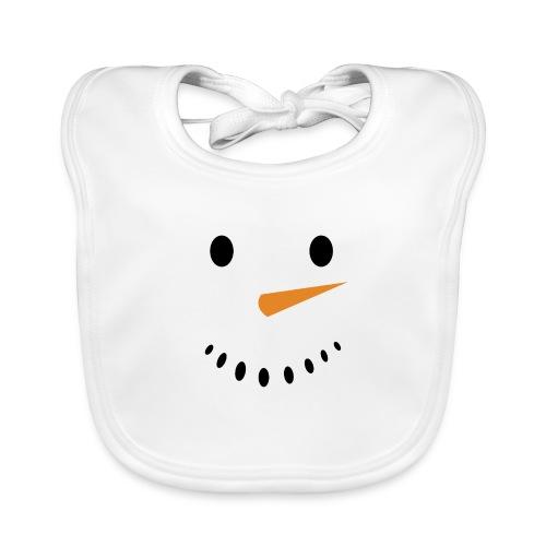 Bonhomme de neige Noël Hiver - Bavoir bio Bébé