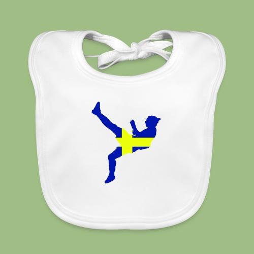 Ibra Sweden flag - Ekologisk babyhaklapp