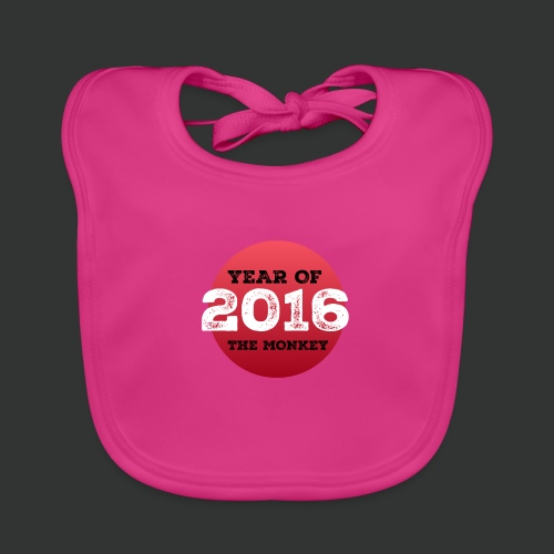 2016 year of the monkey - Baby Organic Bib