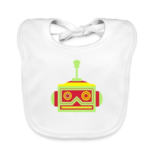 Robot head - Organic Baby Bibs