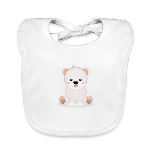 Baby Eisbär Emilia - Baby Bio-Lätzchen