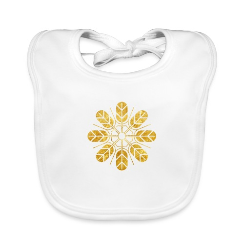 Inoue clan kamon in gold - Organic Baby Bibs